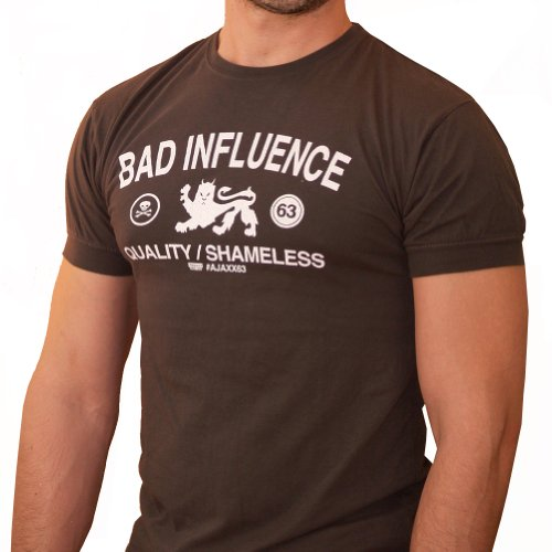 New-Mens-Bad-Influence-Graphic-Athletic-Tee-0