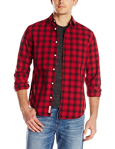 Original-Penguin-Mens-Updated-P55-Plaid-Button-Front-Shirt-0