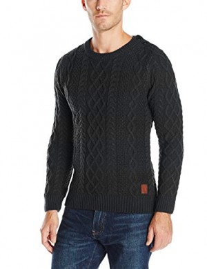 Scotch-Soda-Mens-Cable-Knitted-Crew-Neck-0