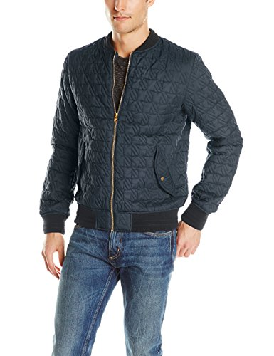 Images of Mens Quilted Bomber Jacket - Reikian